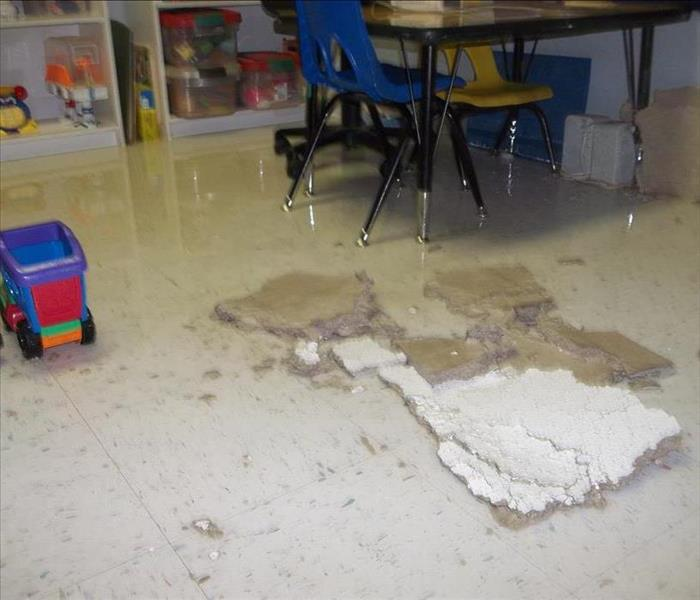 Local School Flooded from Broken Water Line Before