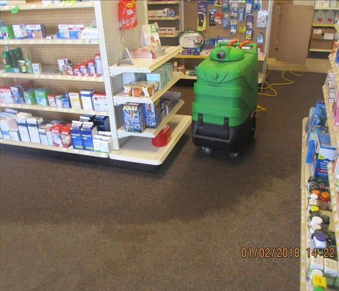 Area Pharmacy has Water Damage from Frozen Pipe