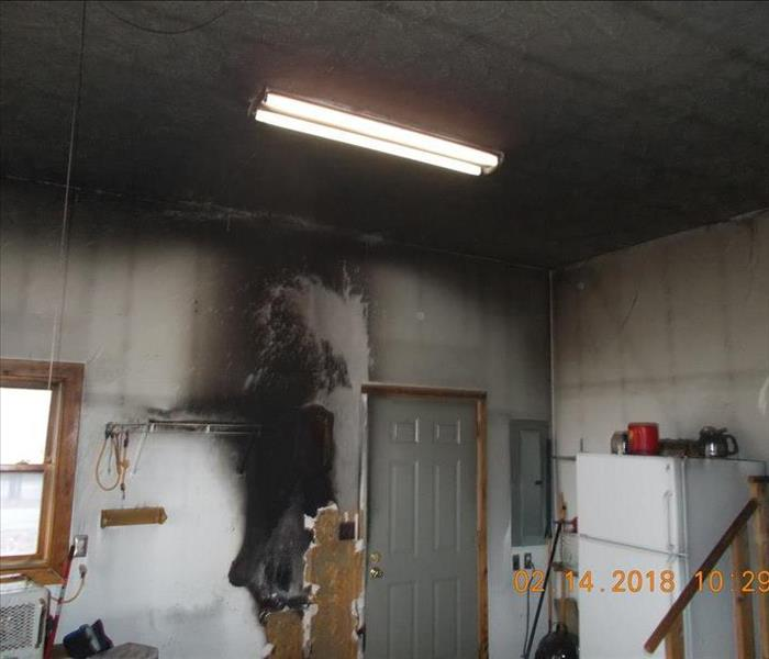 Garage Fire Started by Space Heater