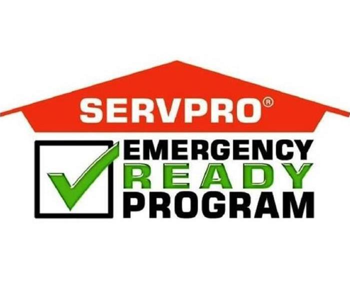 The orange SERVPRO house logo with the Emergency Ready Program logo underneath it in green and black.